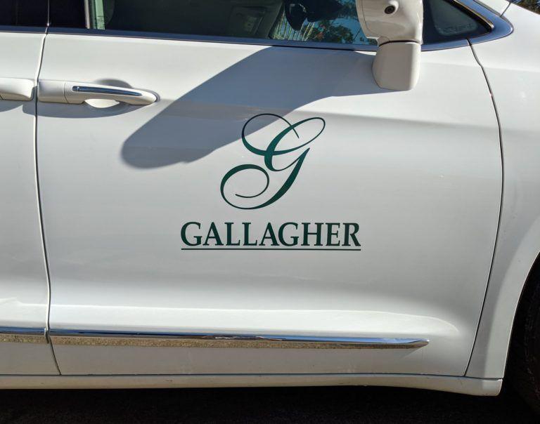 Gallagher Van Vinyl Logo
